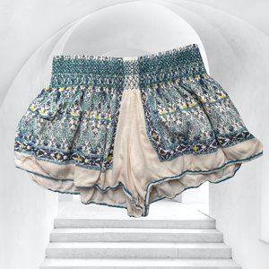 Free People Boho Print Soft Shorts